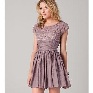 Free People Rose Garden Eyelet Mini Dress